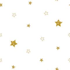 Christmas stars seamless pattern. Stars on white backround.