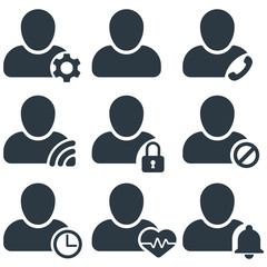 user activity icon set