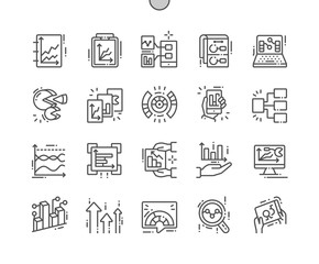 Graphic Dashboard Well-crafted Pixel Perfect Vector Thin Line Icons 30 2x Grid for Web Graphics and Apps. Simple Minimal Pictogram
