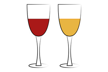 Copa con vino y sidra.