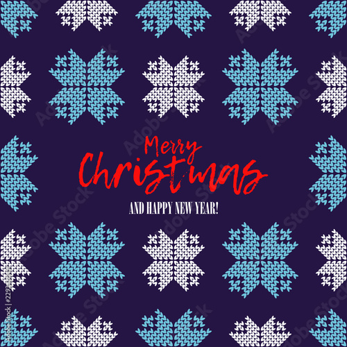 seamless vector background with decorative snowflakes merry christmas and happy new year winter pattern