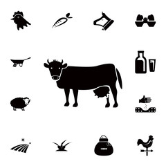 cow icon. Detailed set of farm icons. Premium quality graphic design icon. One of the collection icons for websites, web design, mobile app