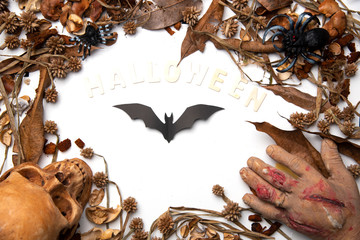 Halloween Bats on background