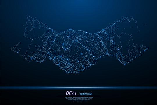 Businessman handshake, best deal
