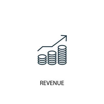 revenue concept line icon. Simple element illustration. revenue concept outline symbol design. Can be used for web and mobile UI/UX