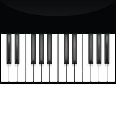 Piano key, keyboard. Instrument. Musical flat background. Vector illustration