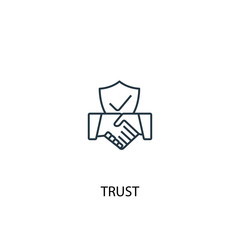 trust concept line icon. Simple element illustration. trust concept outline symbol design. Can be used for web and mobile UI/UX