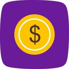 Dollars Ecommerce Flat Curve Icon
