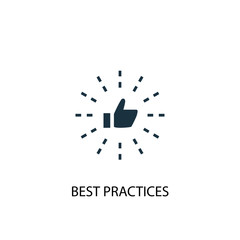 Best Practices icon. Simple element illustration. Best Practices concept symbol design. Can be used for web and mobile.