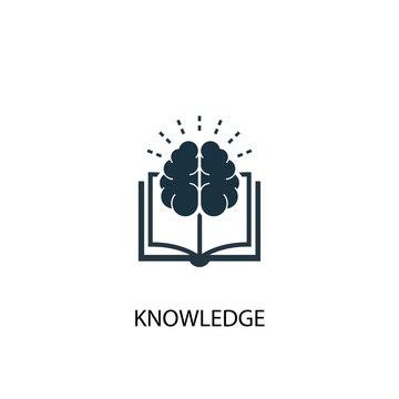 knowledge icon. Simple element illustration. knowledge concept symbol design. Can be used for web and mobile.