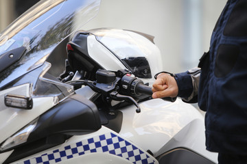 BMW police motorcycles