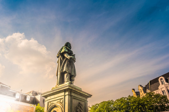 Beethoven Monument in Bonn, Germany.It was unveiled on 12 August 1845