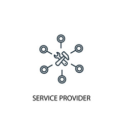 Service provider concept line icon. Simple element illustration. Service provider  concept outline symbol design. Can be used for web and mobile UI/UX
