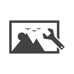 Image optimization Glyph icon