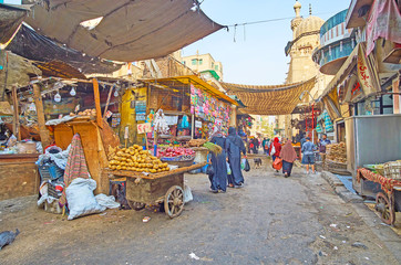 The farmers' market in Al Khayama street of Cairo, Egypt