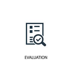evaluation icon. Simple element illustration. evaluation concept symbol design. Can be used for web and mobile.