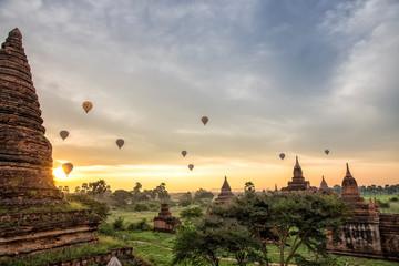 Sunrise view with Balloon of Bagan, Myanmar