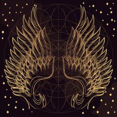 Złote skrzydła anioła