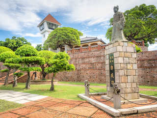 """Anping Fort in Tainan City, Taiwan. (The English Translation of the text means """"national hero"""")"""