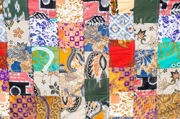 A patchwork cloth Fototapete