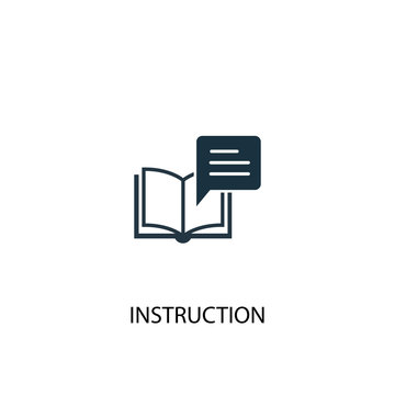 instruction icon. Simple element illustration. instruction concept symbol design. Can be used for web and mobile.
