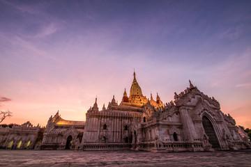 Sunset view of Ananda Temple in Bagan Myanmar