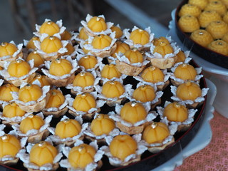Colorful of Traditional Thai Dessert