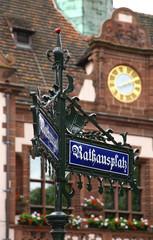 Guidepost in Freiburg im Breisgau. Germany