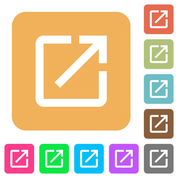 Launch application rounded square flat icons