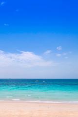 Beautiful tropical sea and blue sky, phuket, thailand