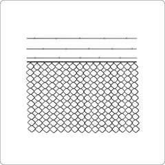 chain link fence symbol, vector illustration.