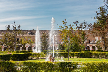 Garden of the El Parterre in Aranjuez in the vicinity of the royal palace.
