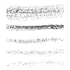 Set of black paint, ink brush strokes, brushes, vector