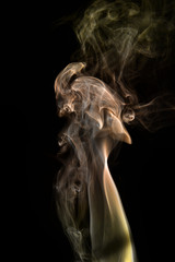 Abstract Art using photos of smoke trials and plumes