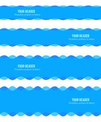 design element ribbon blue water sea background20
