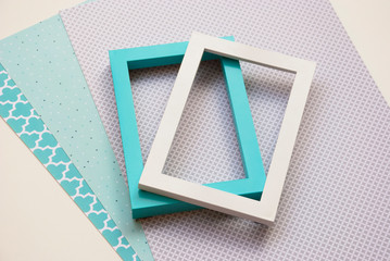 Abstract background geometric flat minimal design. Pastel colors.