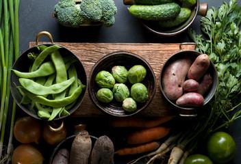Fresh natural healthy vegetables