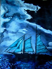 Ghost ship in the night