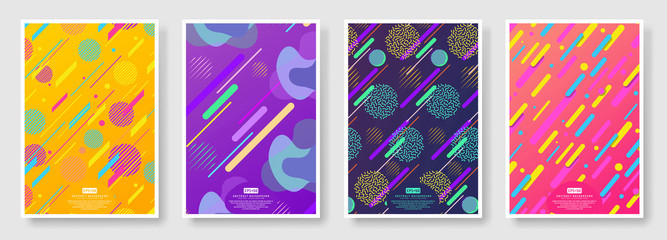 Abstract covers set with seamless background available in swatches panel Fotobehang