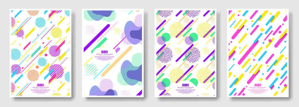 Abstract covers with seamless background available in swatches panel
