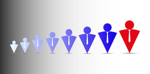Conceptual idea of team business logo, vector image