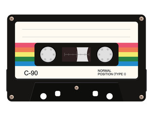 Cassette tape. Vector illustration