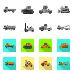 Vector illustration of build and construction icon. Set of build and machinery stock symbol for web.