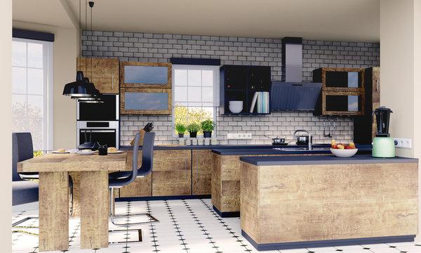 Küche / Küchenplanung 3D Render