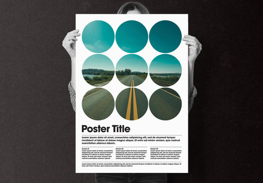 Poster Layout with Photo Mask Elements