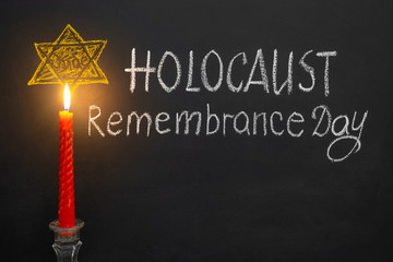 Chalk inscription Holocaust Remembrance Day