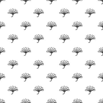 Herb calendula pattern seamless repeat background for any web design