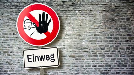 Schild 389 - Einweg
