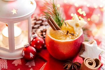 Weihnachtsapfel gefüllt Gewürzapfel