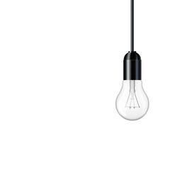 Wall Mural - Transparent realistic light bulb, isolated.